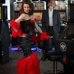 Robe Couture Casino noire et rouge