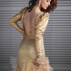 Robe Haute couture Dorée - de dos