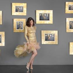 Robe Haute couture Dorée - en mouvement