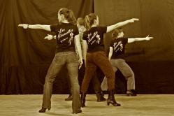 Cabaret Western en répetition