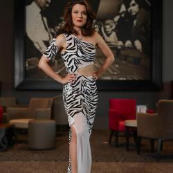 Robe Haute couture tissus zèbre